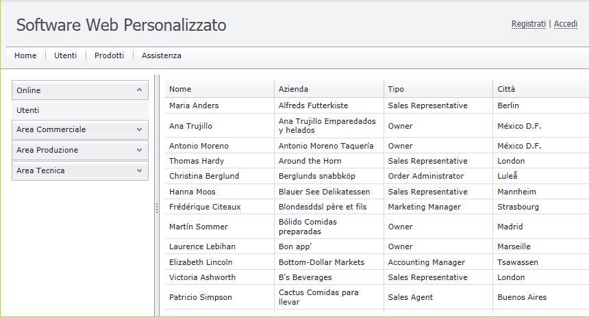 Software Web Personalizzato